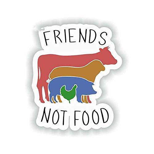 JKGHK Vegan Friends Not Food Vinyl Graphic Decal Repair Creative Stickers Suitable For GTR Evo SX 13 cm x 10,9 cm