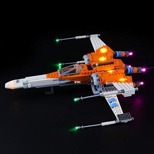 icuanuty Kit De Iluminación LED para Lego Star Wars PoE Dameron X-Wing Fighter Building Set, Espectáculo De Luces Compatible con Lego 75273 (No Incluye El Juego Lego)