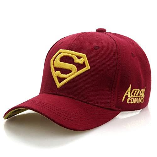 YDDM Nuevo Casual Gorra de béisbol del Casquillo Superman Nueva Carta Gorras de béisbol al Aire Libre for los Casquillos Hombres Mujeres Sombreros Snapback Sombrero for el Sol for Adultos clásico
