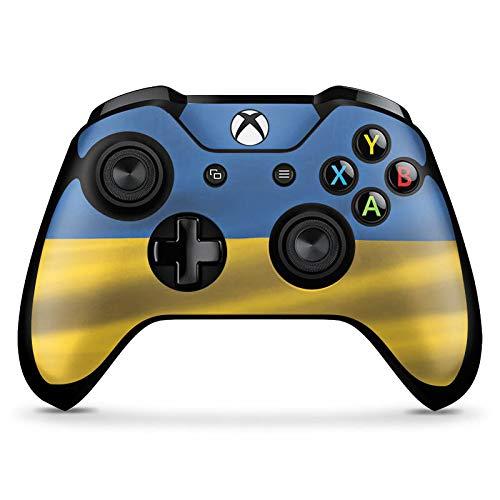 DeinDesign Skin kompatibel mit Microsoft Xbox One X Controller Aufkleber Folie Sticker Ukraine Fahne Flagge