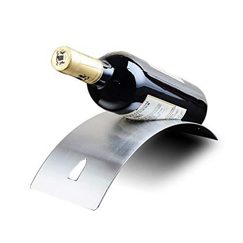 DFGVDFVBDFV Estante de Vino Acero Inoxidable Arqueado Rack Tipo de Puente Tipo de Vino Rack Creative Bar Bar Wine Rack,A