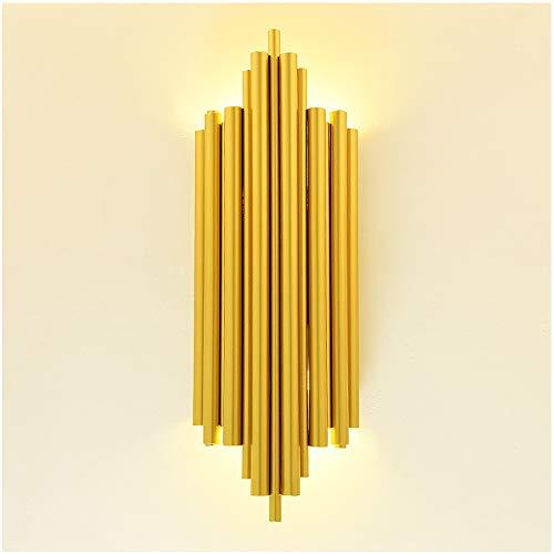 Lampada da Parete D'oro Elegante Moderno, Creativo Lungo Tubolare Applique da Parete Classiche...