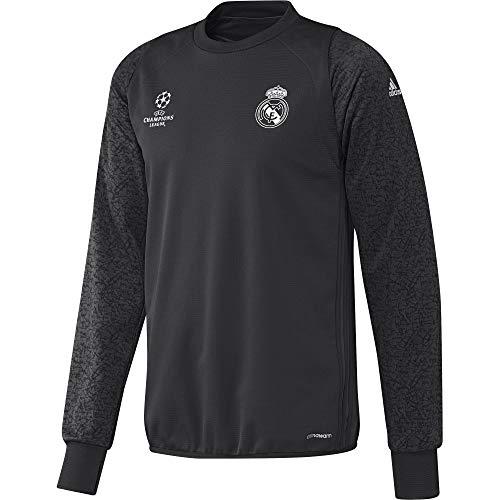 adidas Herren Sweatshirt Real Madrid C.F. - REAL EU TRG TOP, Farbe Grau, Größe XS
