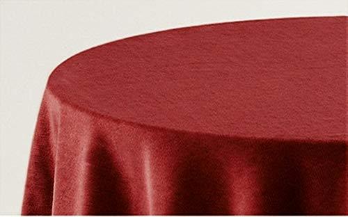 HIPERMANTA Falda Mesa Camilla Redonda Lisa Tacto Suave 100% Poliéster. Tamaño diámetro 100 cm - 243 cm, Granate.