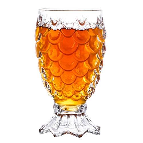 hengguang Taza De Vidrio De Primera Calidad, Tazas De Cerveza En Relieve con Base, Vaso Mezclador De Cóctel, Bebidas Frías, Refrescos, Agua, Jugo 225ML