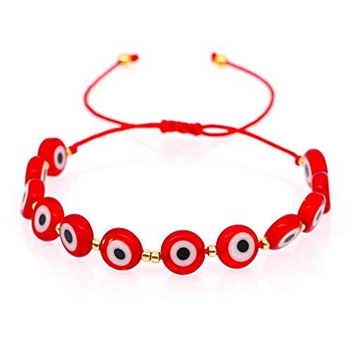 Bracelets Jewelry New Turkish Evil Eye Beads Bracelet Women Red Cotton Handmade Trendy Rope Pulseras