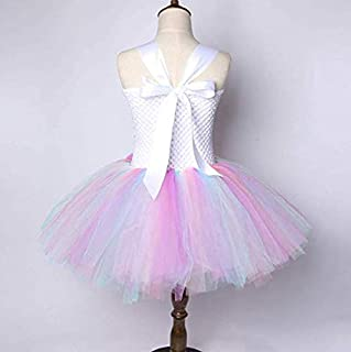 Pastel Unicorn Tutu Dress for Girls Kids Birthday Party Unicorn Costume Outfit with Headband pompous skirts dance costumes...