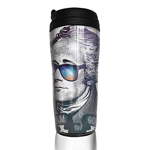 Hamilton Go Ham Or Go Home Tazas de café de viaje ABS con tapa QuickSeal con aislamiento Taza de café de agua de doble pared de 12 oz