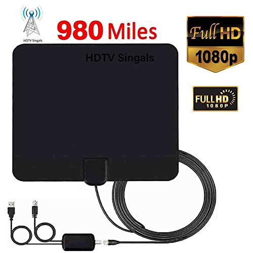 Best Prices! 980 Miles Range Indoor HD Digital TV Antenna Signal Booster Amplifier Support 1080P 4K