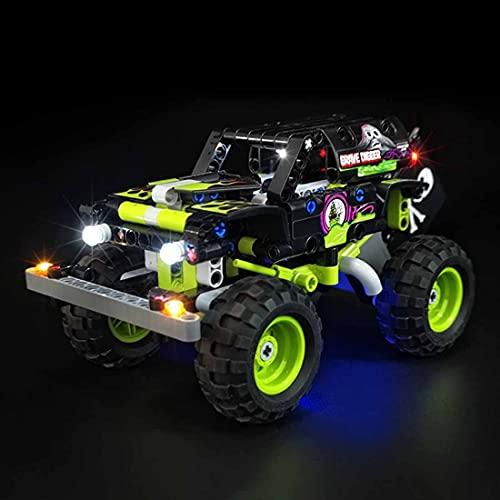 SESAY Juego de iluminación para camión Lego Technic Monster Jam Grave Digger Truck, juego de iluminación LED compatible con Lego 42118 (sin juego Lego).