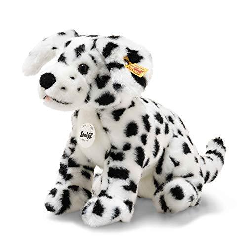 """Steiff 76916 Original Plüschtier Hund Lupi Dalmatiner, Kuscheltier ca. 26 cm, Markenplüsch Knopf im Ohr"""", Schmusefreund für Babys von Geburt an, weiß, schwarz"""