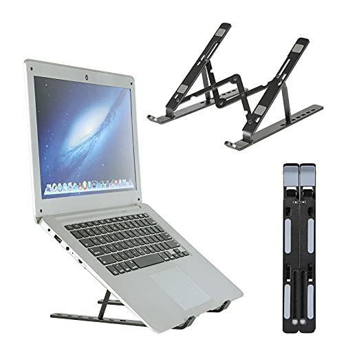 Mbuynow Supporto per laptop , supporto per laptop regolabile in altezza a 7 strati, materiale per laptop pieghevole, supporto per laptop in lega, compatibile con la maggior parte dei laptop (nero)
