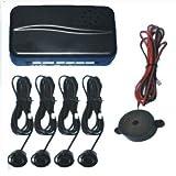 Black Rear Car Parking Reversing with 4 Sensor Buzzer Mini box Kit
