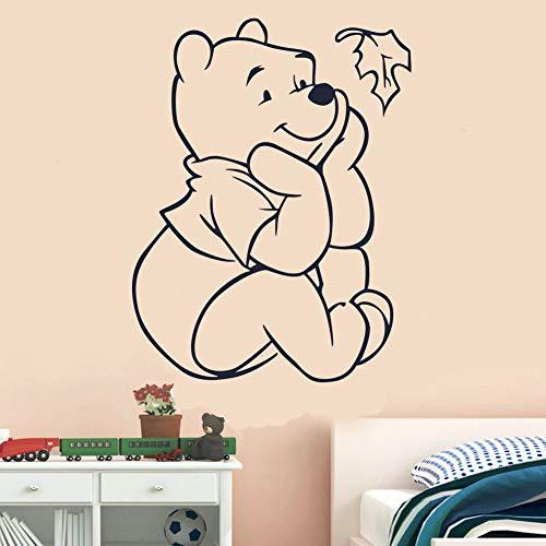Winnie The Pooh Winnie L'Ourson Sticker Autocollant Créatif Nouveau Bricolage Mignon Jouer Feuilles Stickers Muraux Pour Enfants Chambres Décoration de La Maison