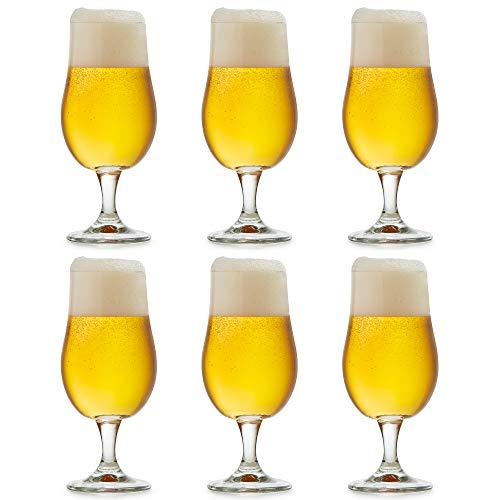 Libbey Verre à bière Munique - 37 cl / 370 ml - lot de 6 – sur pied - design fonctionnel – haute qualité