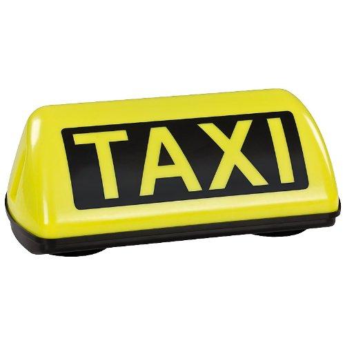 TAXI Dachzeichen Schild SPEED Dachschild gelb LED Dauerlicht mit 2,5m Flachkabel und TÜV Gutachten bis 240 km/h