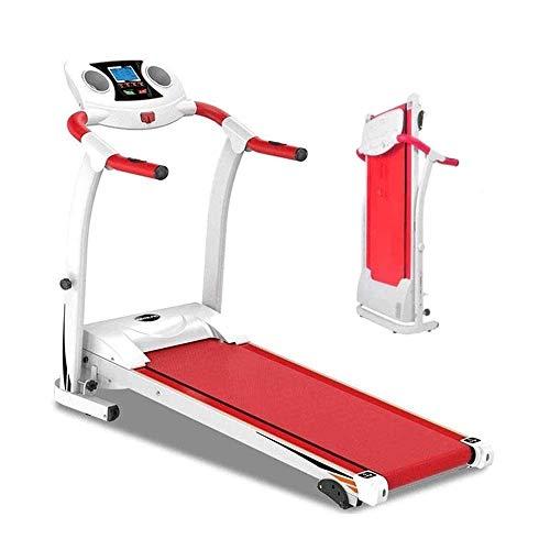 Plegable rueda de ardilla motorizada, Zona caminadora eléctrica, equipo de la aptitud ejercicio de caminar Correr motor de la máquina máquina en funcionamiento (Color: Rojo, Tamaño: 122x64x126cm) huan