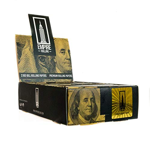 EMPIRE ROLLING - 24 Wallets $100 Bill Rolling Paper (240 Papers) King Size BENNY 1 3/4 Inches   Made from Pure All Natural Ingredients   Premium Quality Paper, Organic, 100% Vegan, Non-GMO, Unbleached
