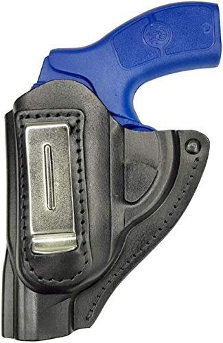 VlaMiTex IWB 11Li Leder Holster Revolver J Frame S für Smith & Wesson 31/34 / 36/38 / 60 Chiefs Special/Ruger LCR/Taurus 85 / Colt Detective Special/Kimber K6S / SW 640/642 / 649