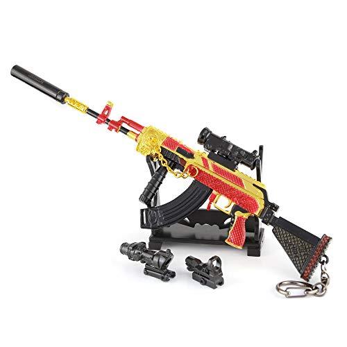 LINLUO Los niños M762 Aleación de Juguete Pistola Modelo 1/4 Metal Armas Llavero Niño Juguetes Militar Hobby Colección Suministros del Partido