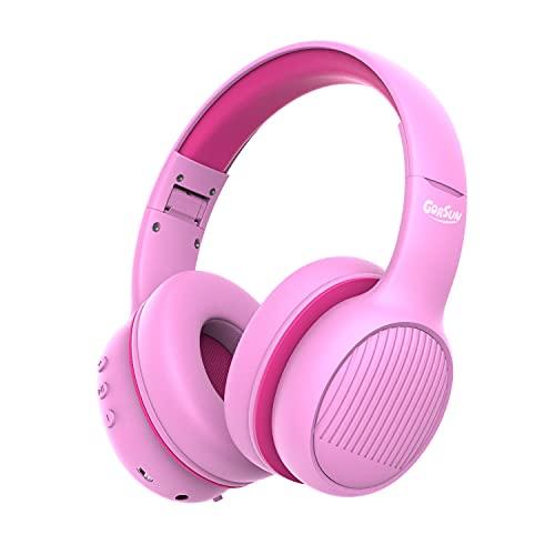 gorsun E66 Cuffie Bluetooth per bambini, per bambini e bambine, regolabili 85/94 dB, cuffie per bambini con microfono per scuola/tablet, cellulari, PC, TV