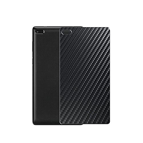 VacFun 2 Piezas Protector de pantalla Posterior, compatible con Lenovo TAB 7 Essential ZA300099JP 7', Película de Trasera de Fibra de carbono negra Skin Piel