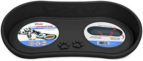Pet Parade Non Skid Pet Bowl Tray Gray product image