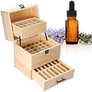 Wooden Essential Oil Box,59 grid wooden essential oil box essential oil packaging box high-grade 3 layer essential oil box...