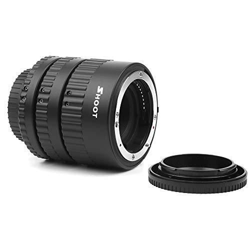 Docooler Shoot XT-365 Auto Focus AF Extensión del Tubo Adaptador de Anillo Juego de 12 mm 20 m 36 mm para Nikon F-Mount Lente AF para Nikon D3300 / D3400 / D3500 / D500 / D5300 / D5500 / D5600