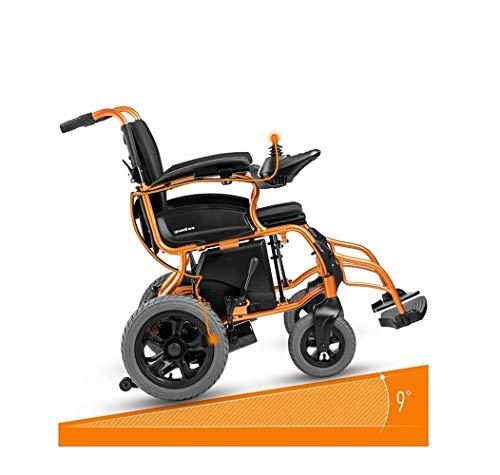 DSHUJC Rollstuhl Rollstuhl, medizinischer Reha-Stuhl für Senioren, alte Menschen, intelligenter elektrischer Rollstuhl, Leichter Faltbarer Rollstuhl mit Verstellbarer Rückenlehne und dopp