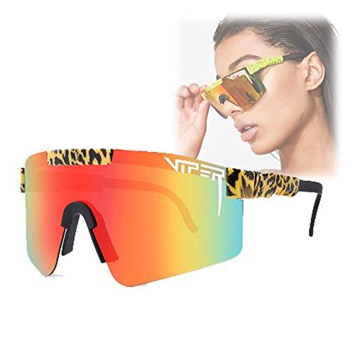 Pit-Viper Sonnenbrille, polarisierte Sonnenbrille für Männer, Frauen, UV400 Windproof Sports Sonnenbrille zum Radfahren Baseball Laufen und Angeln C18
