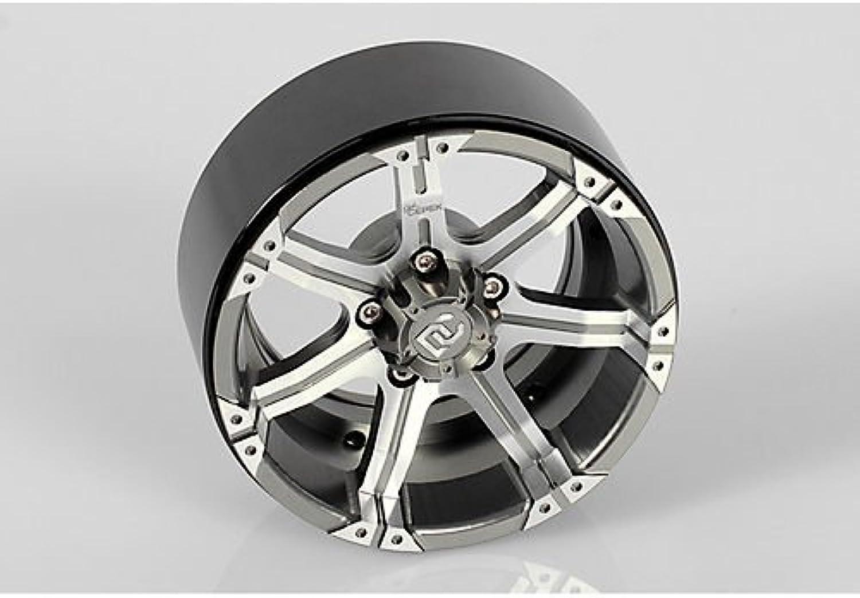 marca de lujo Dick Cepek Gun Metal 7 7 7 2.2  Internal Beadlock Wheels 4 Scale Hubs Hex Mounting  nuevo sádico