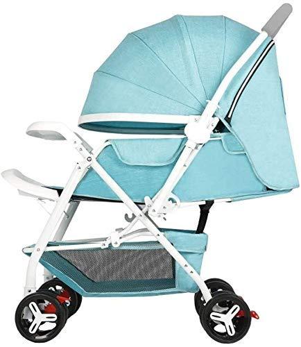 Nuevo triciclo triciclo para niños Cochecitos de bebé, carritos, sombrillas de bebé plegables y livianas, alto paisaje Carritos para niños de dos vías Carrito de triciclo para bebés Silla de empuje pa