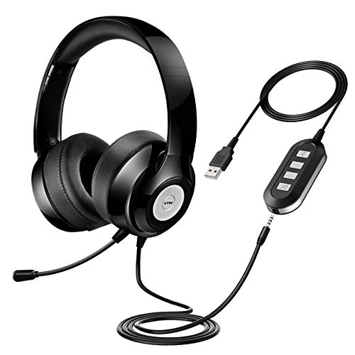 Vtin Headset with Microphone, USB Headset/ 3.5mm...