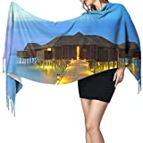 Pashmina Chales y envolturas Bufanda, Luna de Miel Lugares en Hawái Mujer Moda Largo Chal Invierno Cálido Grande Bufanda de Cachemira