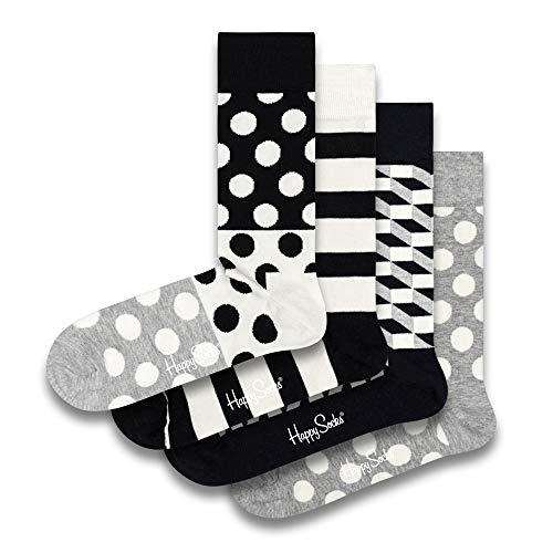 Happy Socks farbenfrohe und verspielte Filled Optic Geschenkboxen für Männer und Frauen, Premium-Baumwollsocken, 4 Paare, Größe 41-46.
