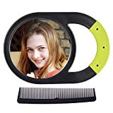 Hand Mirror, Unbreakable Handheld Mirror with Silicone Handle for...