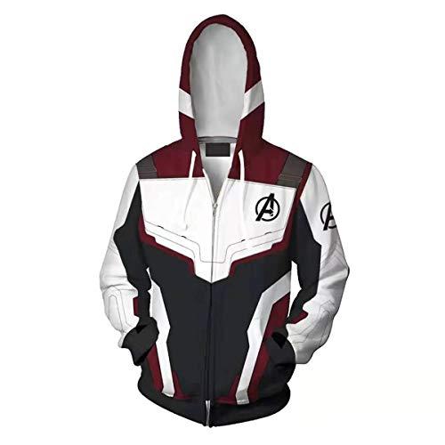 WKDFOREVER 3D Captain Fashion Cosplay Hoodie Jacket Costume (X-Large, A 4 Uniform)