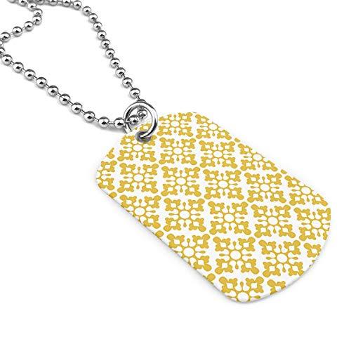 90ioup Gotas Amarelo 1000 - Collar militar con colgante de acero inoxidable,...
