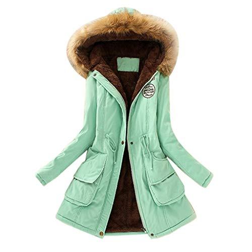 Vendita di vestiti delle signore di modo tinta unita manica lunga casuale allentato pullover con cappuccio superiore autunno inverno nuovo Verde S