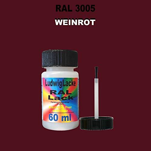 60 ml Lackstift mit Pinsel im Farbton RAL 3005 Weinrot