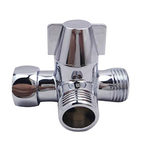 1pc Metal Threal-Way Water Divertidor en Forma de T DIVERTORES DE Ducha DE LA DUCHIVA del Conector DE TIENDO DE AUMIENTO DE Agua Sepepet de Agua Sepet Splitter (Color : Silver)