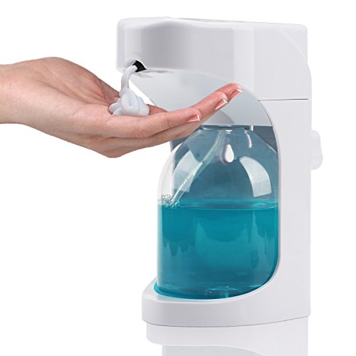 Segarty Soap Dispenser, Touchless Automatic Sensor Foaming Hand Soap Dispenser for Kitchen and Bathroom, Commercial Hand Sanitizer Dispenser Wall Mounted on Countertop, 500ml