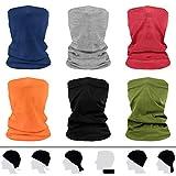 flintronic Multifunktionstuch Gesichtsschal, 6 Stück Schlauchschal Herren/Damen, Elastische Schlauchtuch Mundschutz UV-Schutz Loop-Schal Motorradschal, Elastiche Stirnband für Yoga, Laufen, Outdoor