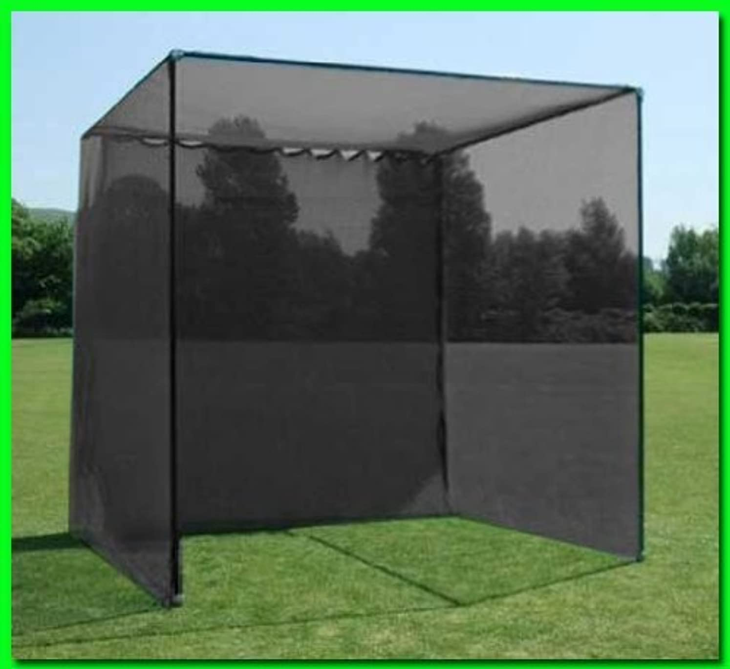 Dura-Pro 10'(d) x 10'(h) x10'(w) Golf Cage Golf Net with High Velocity Strong Impact Netting, High Impact Double Back Stop and Target. Commercial Quality Materials! glrisojyk1267190