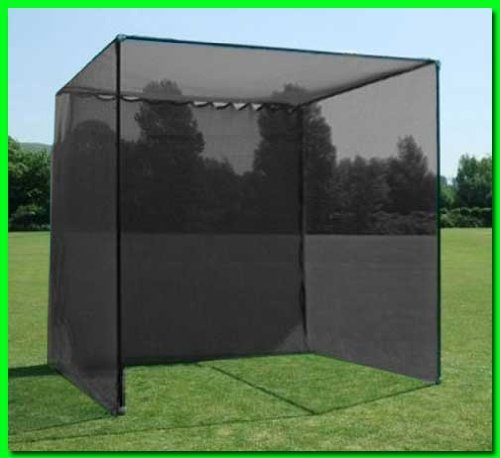 Dura-Pro 20'(d) x 10'(h) x10'(w) Golf Cage Golf Net With High Velocity Strong Impact Netting, High Impact Double Back Stop and Target. This is the Commercial Grade Cage