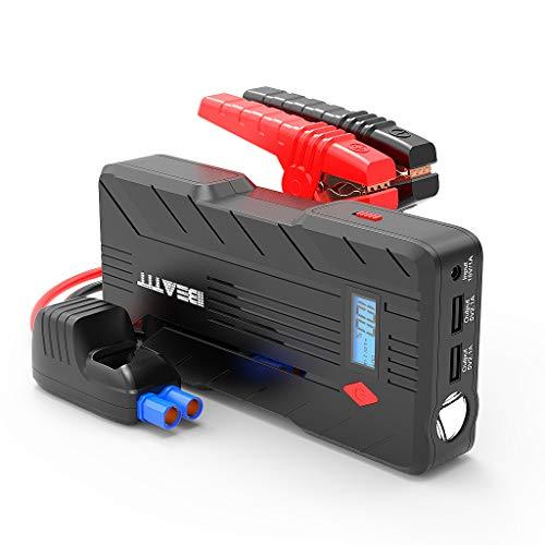 Beatit B7 ジャンプスターター 12V エンジンスターター バッテリー上がり対策 160000mAh ブースター モバイルバッテリー 大容量 コンパス搭載 逆接続保護機能 非常用充電器 LEDライト付き 日本語取扱説明書 2年保証付
