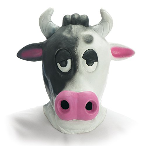 Carnival Toys 968 - Maske Kuh, Latex, schwarz/weiß
