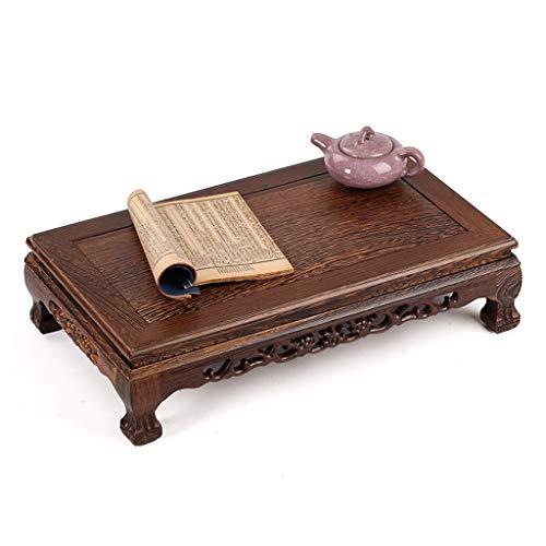 Rechteckige Teetabelle des Couchtischbuchtfensters chinesischer Mahagoni Tatami Tabelle niedrige Tabelle des Bodentisches (Color : Brown, Size : 40.5 * 24 * 11.5cm)
