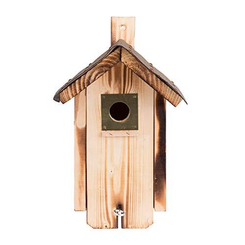 Kölle Nistkasten aus Fichtenholz mit Dachpappe, Zwei Einfluglöcher